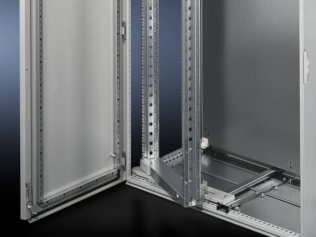 Swing frame, large, without trim panel for TS, SE, 600 mm and 1200 mm wide enclosures