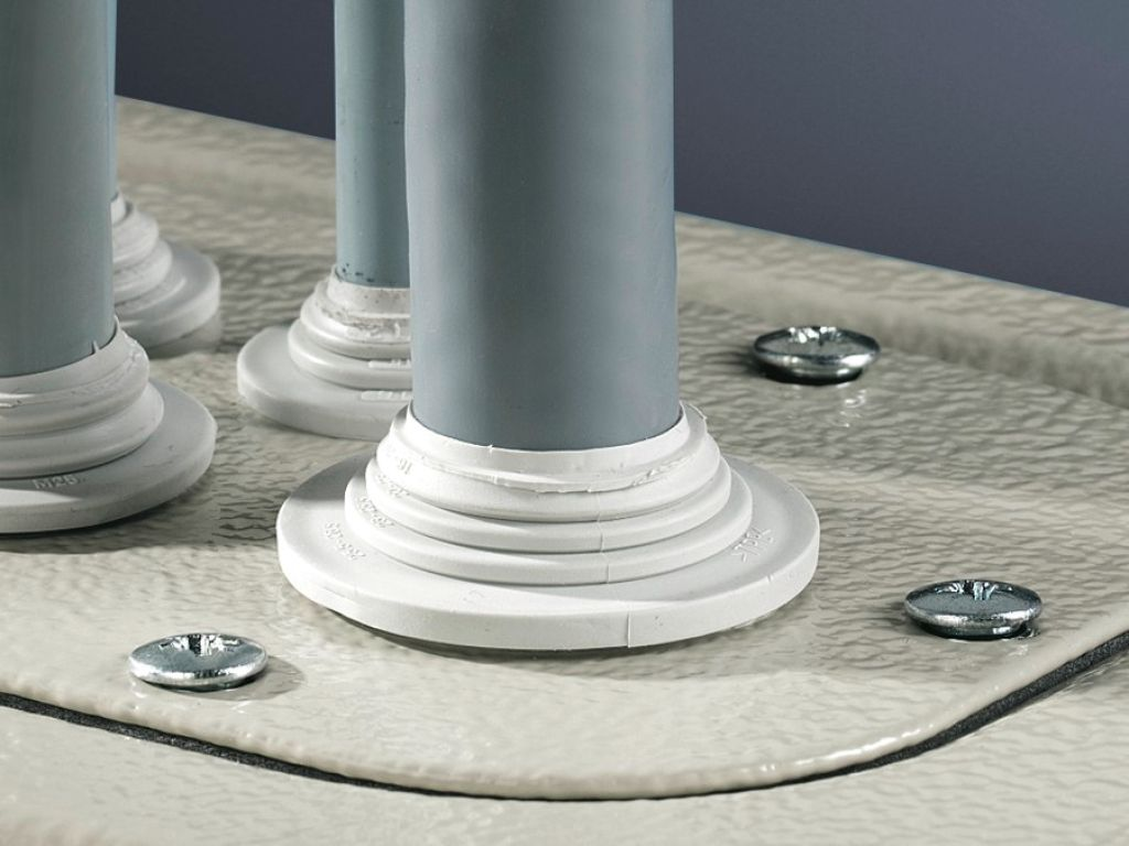 Stepped collar For wall thicknesses from 1.5 to 4.5 mm