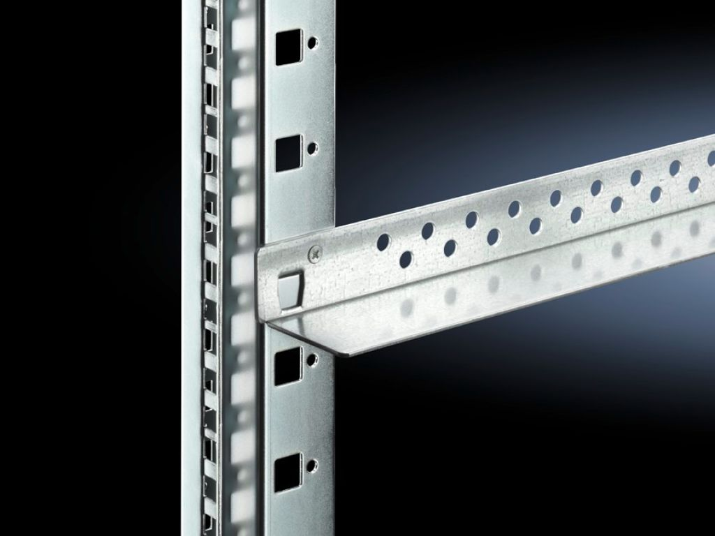 Slide rails, heavy-duty for TS network enclosures with two mounting levels