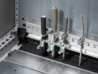 Schiene für EMV-Schirmbügel und Zugentlastung