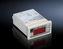 Digital enclosure internal temperature display and thermostat