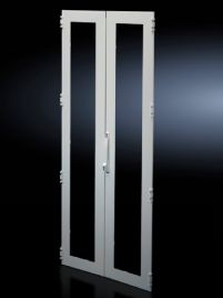 Sheet steel glazed door, vertically divided for TS 8