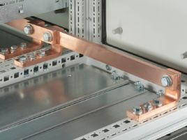 Busbars E-Cu with integral holes