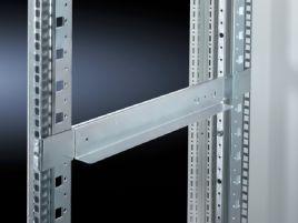 Slide rails, depth-variable, 1 U for TS IT, TE