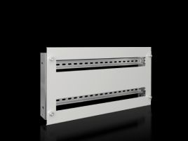 Support frame for DIN rail-mounted devices