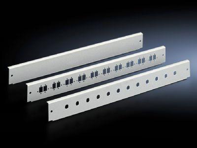 Patch panels for fibre-optic splicing box, depth-variable, and fibre-optic breakout box, 1 U