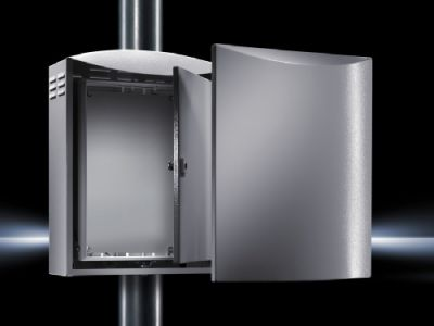 Outdoor wall-mounted enclosures
