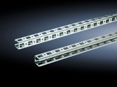 Punched rail 23 x 23 mm for TS, SE