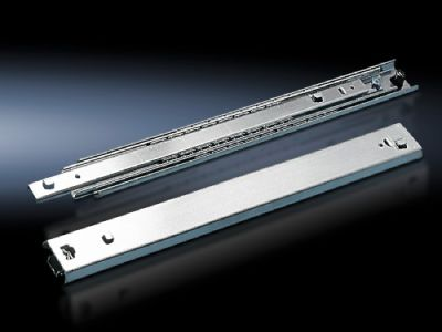 Telescopic slides For component shelves, for mounting on the TS 8 enclosure frame and for upgrading existing DK-TS applications
