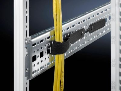 Rails for cable tie attachment