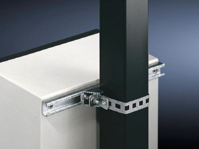 Pole clamp for KL, EB, BG, AE, KS and CS wall-mounted enclosures