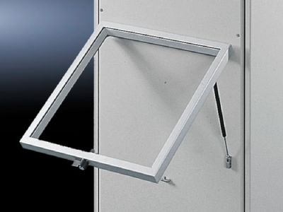 Horizontally hinged FT stay for viewing window