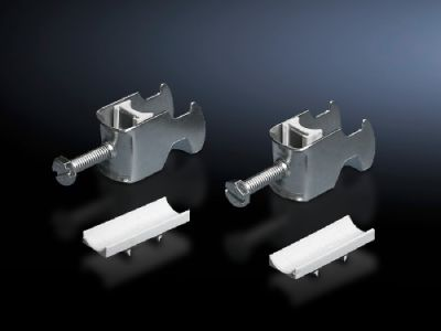 Cable clip for C rail, combination rail