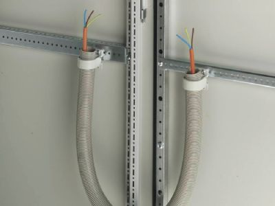 Cable routing to door