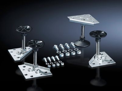 Levelling feet for base/plinth TS, stainless steel and base/plinth, complete, stainless steel