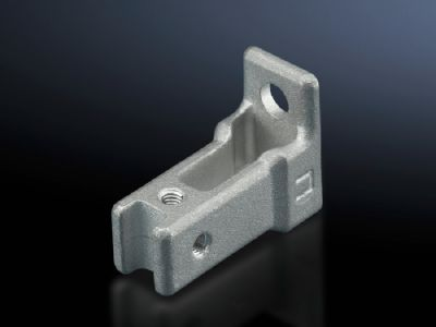 T-connector piece for TS punched rail 17 x 17 mm