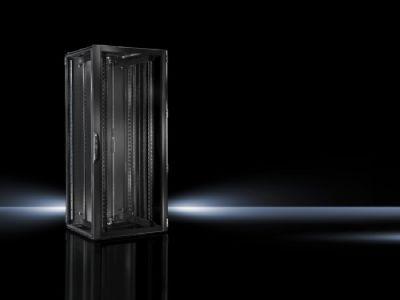 Baie réseaux et serveurs TS IT avec porte vitrée pour une climatisation de baie, version nord-américaine