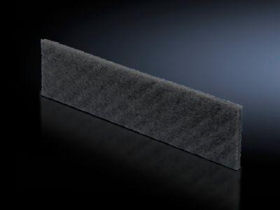 Filter mat for base/plinth trim panels, vented