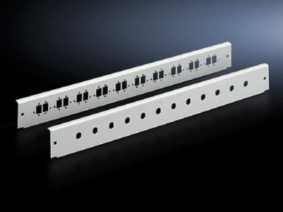 Patch panels for fibre-optic splicing box, depth-variable, and fibre-optic breakout box, 1 U