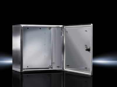 Ex Enclosures Stainless steel, empty enclosure with hinged door