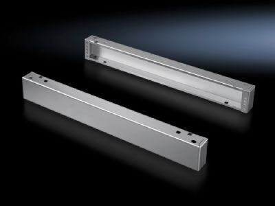 Base/plinth components, front and rear, 100 mm Stainless steel for TS, SE