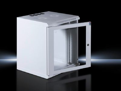 "Wall-Mount Network Enclosure with glazed door, with 482.6 mm (19"") mounting angles"