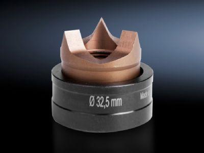 Conjunto de punção redondo métrico com divisão para aço inoxidável, com três divisões