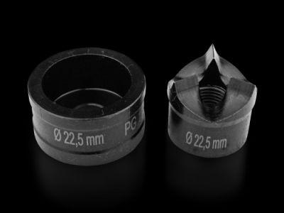 Emporte-pièces à interstice pour tôle d'acier avec division
