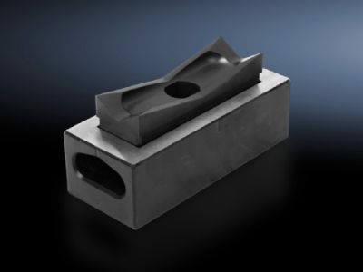 Hole punch, rectangular for sheet steel