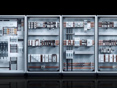 Baying enclosure system VX25, power distribution