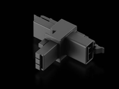 Distributore a T con 2 prese e un connettore