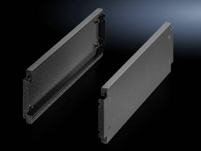 Acabamentos laterais de base soleira, 200 mm para o sistema de base soleira VX em chapa de aço