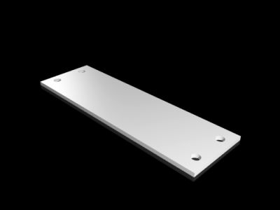 Plastic gland plate for compartment side panel