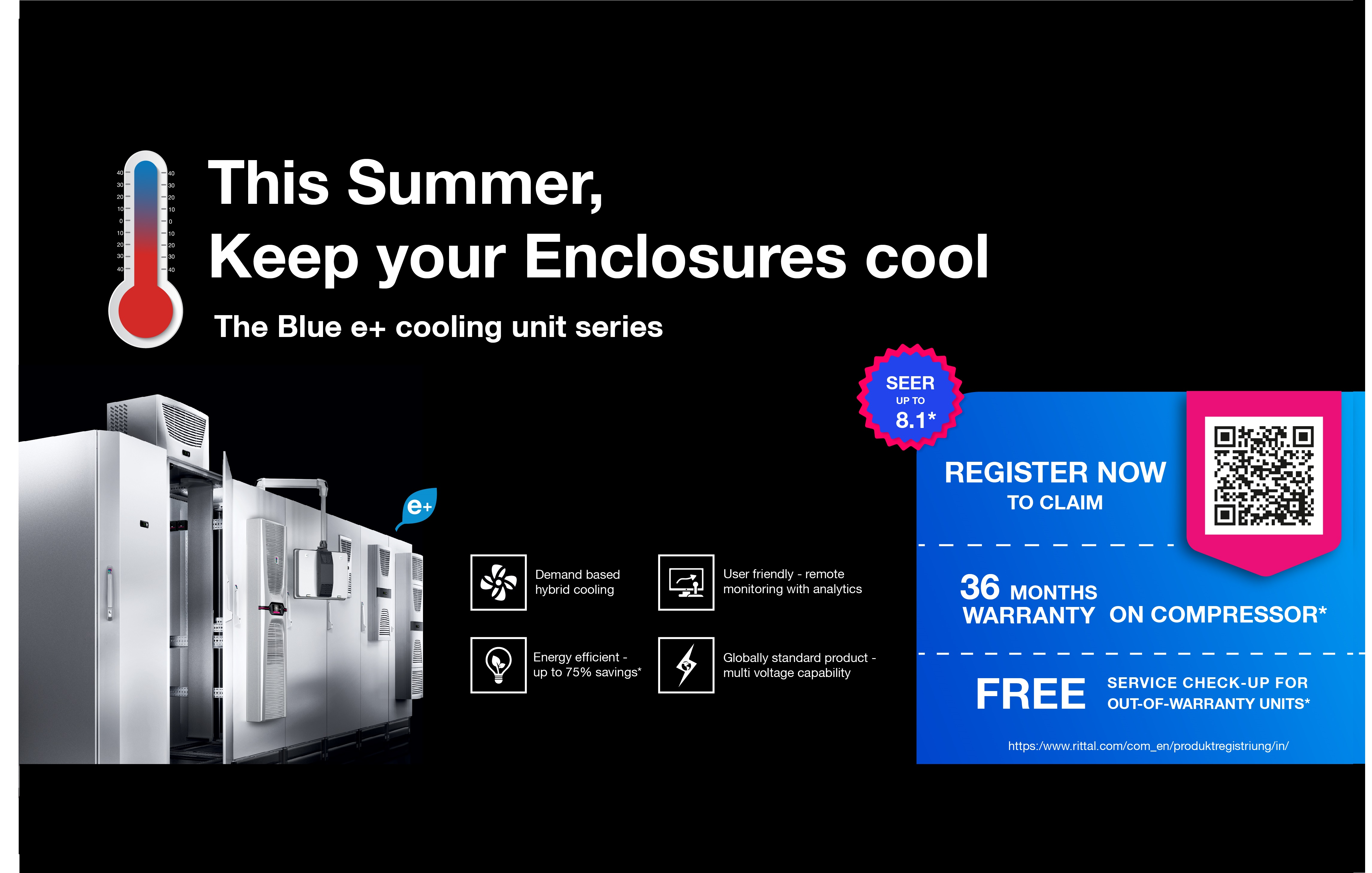 World´s first. The Blue e+ cooling unit series.
