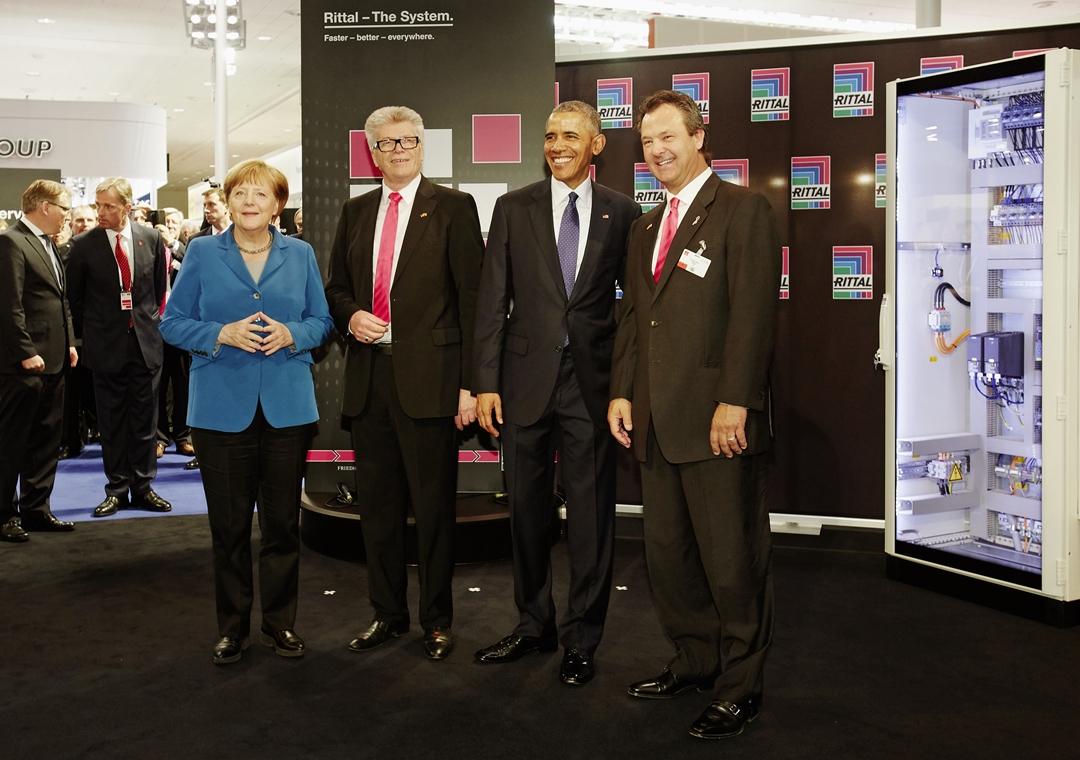 奥巴马与默克尔亲临威图汉诺威展台
