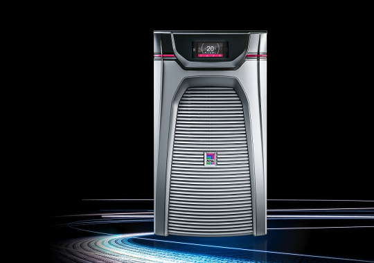 The e+ principle The world's most efficient range of chillers. Blue e+