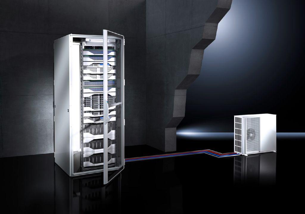 Platzsparende und ausfallsichere IT-Kühlung für Serverschränke ...