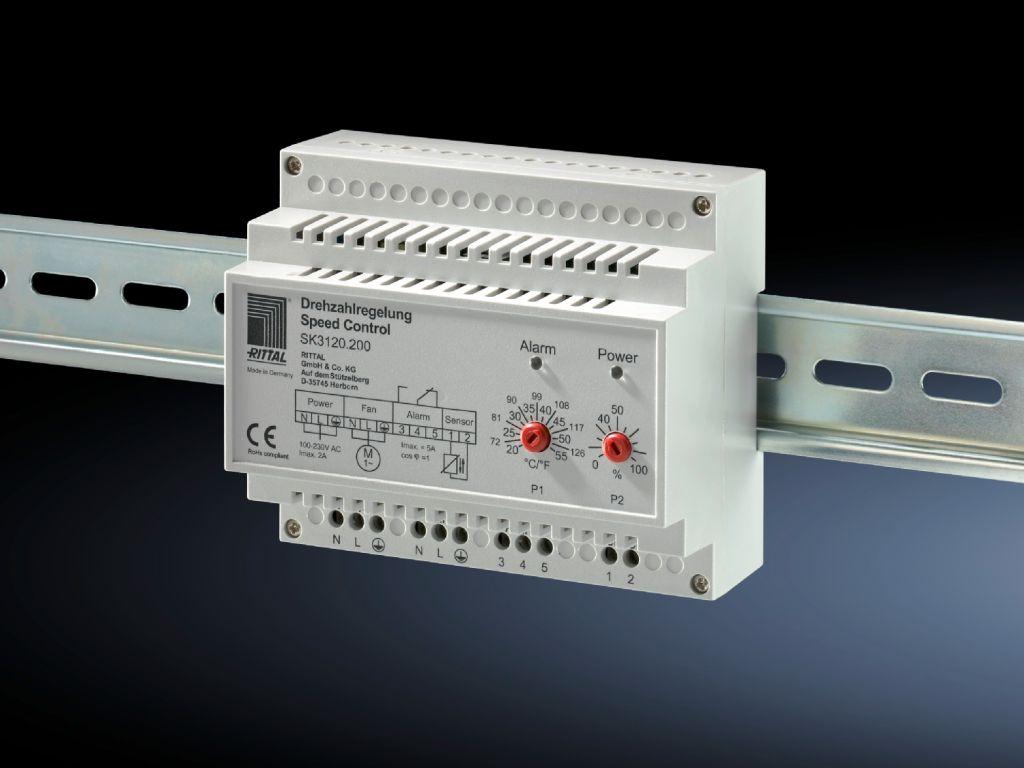 Turtallsregulator for filtervifte og luft/luft-varmeveksler