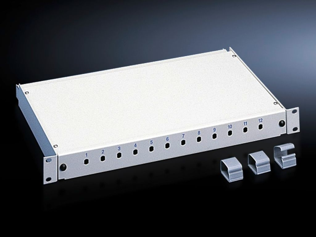 Fibre-optic splicing box, depth-variable
