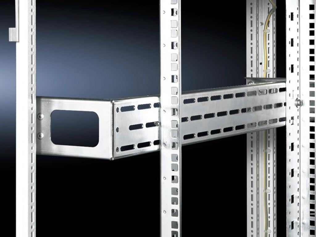 Montaj seti olarak derin destekler Profil rayları için, inch 482,6 mm (19'')