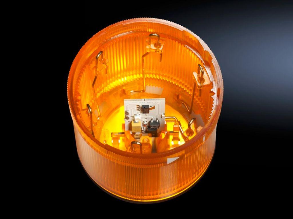 LED continu oplichtend element voor signaalzuilen, modulair