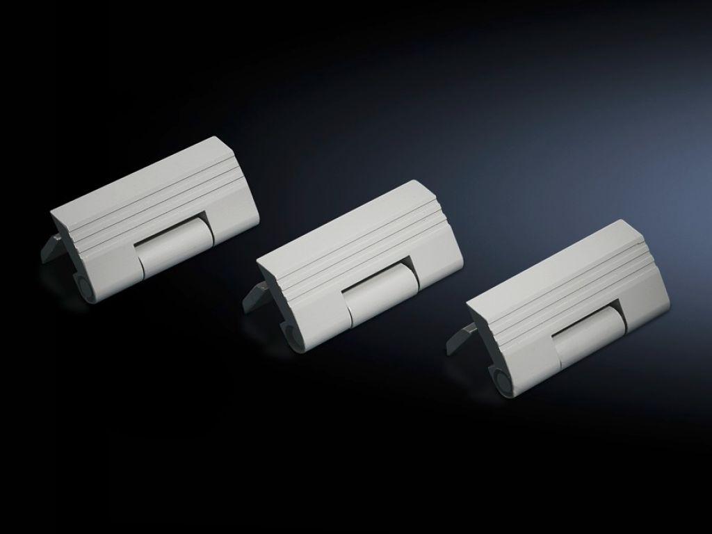 Hinge for side panel TS, screw-fastened, sheet steel