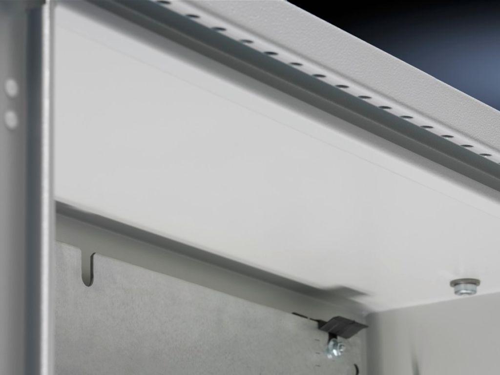 Rain canopies, sheet steel for CM