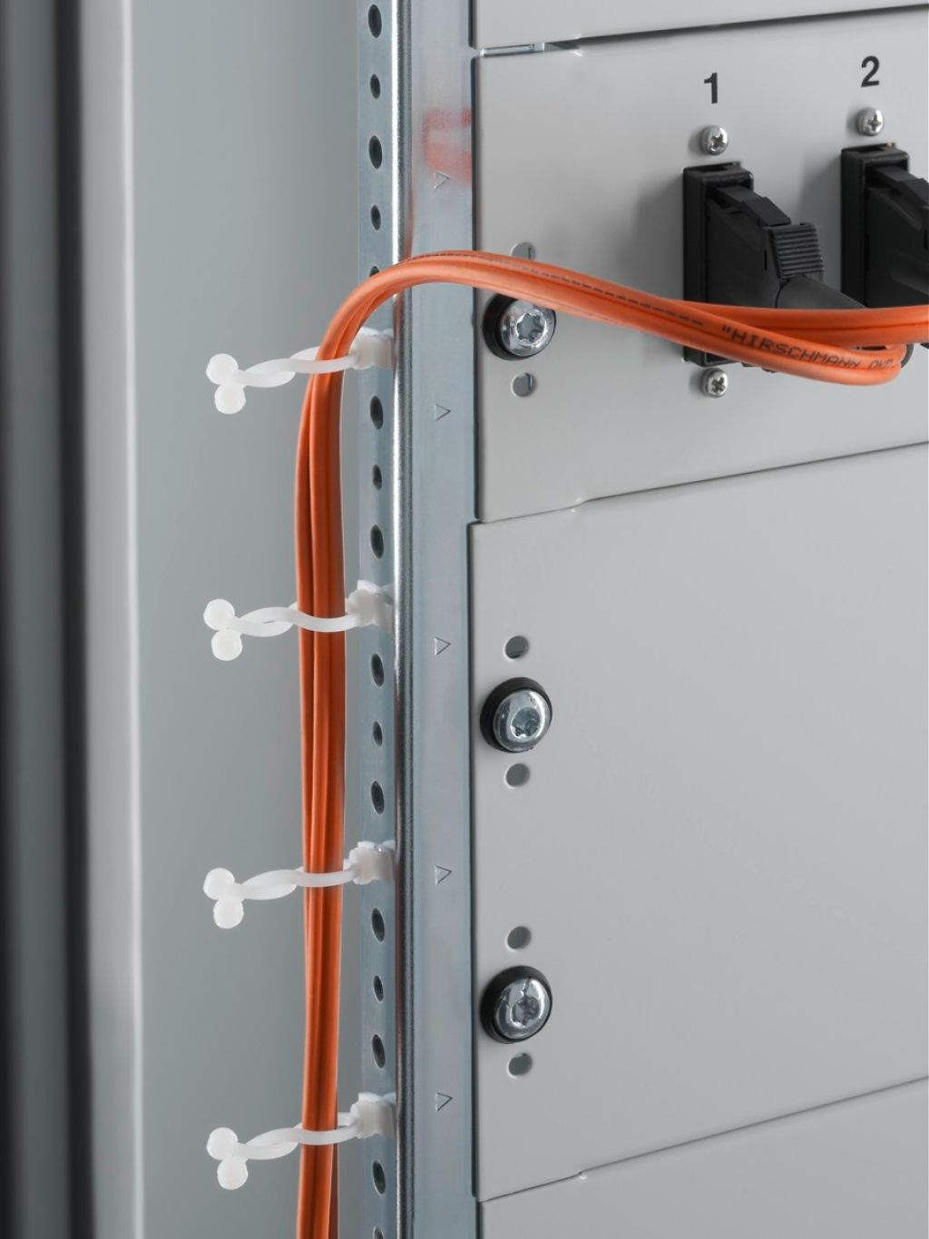 Snap-in cable routing for clipping into the system punchings.
