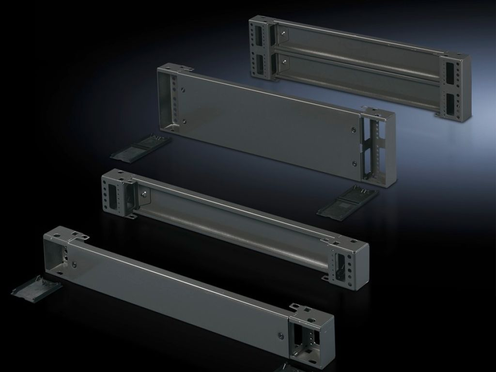 Base/plinth components, front and rear, 200 mm Carbon steel