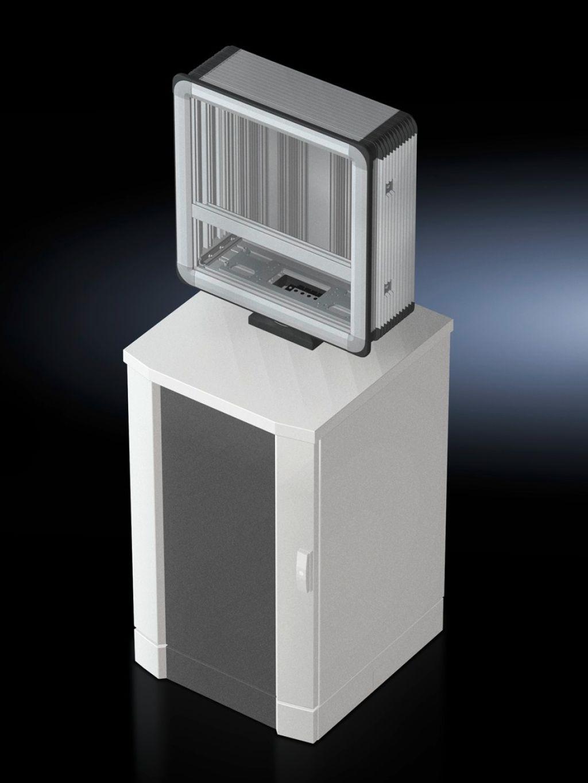 Housing coupling For desktop mounting