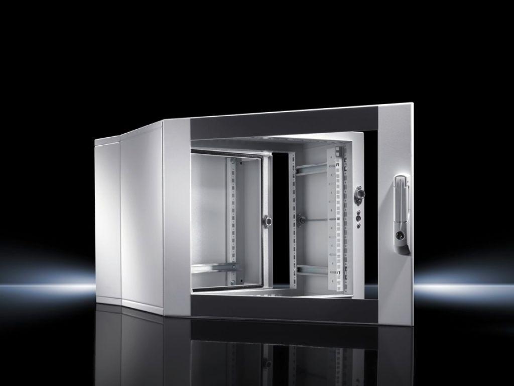 Wandgehäuse EL, 3-teilig mit Montageschienen und Profilschienen, tiefenvariabel
