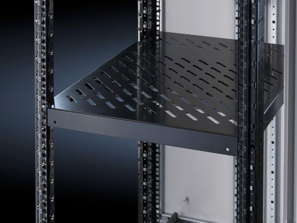 """Hyllplan, fast inbyggnad 19"""" systemhålning (482,6 mm), variabel i djupled för VX IT, TE, TS IT"""
