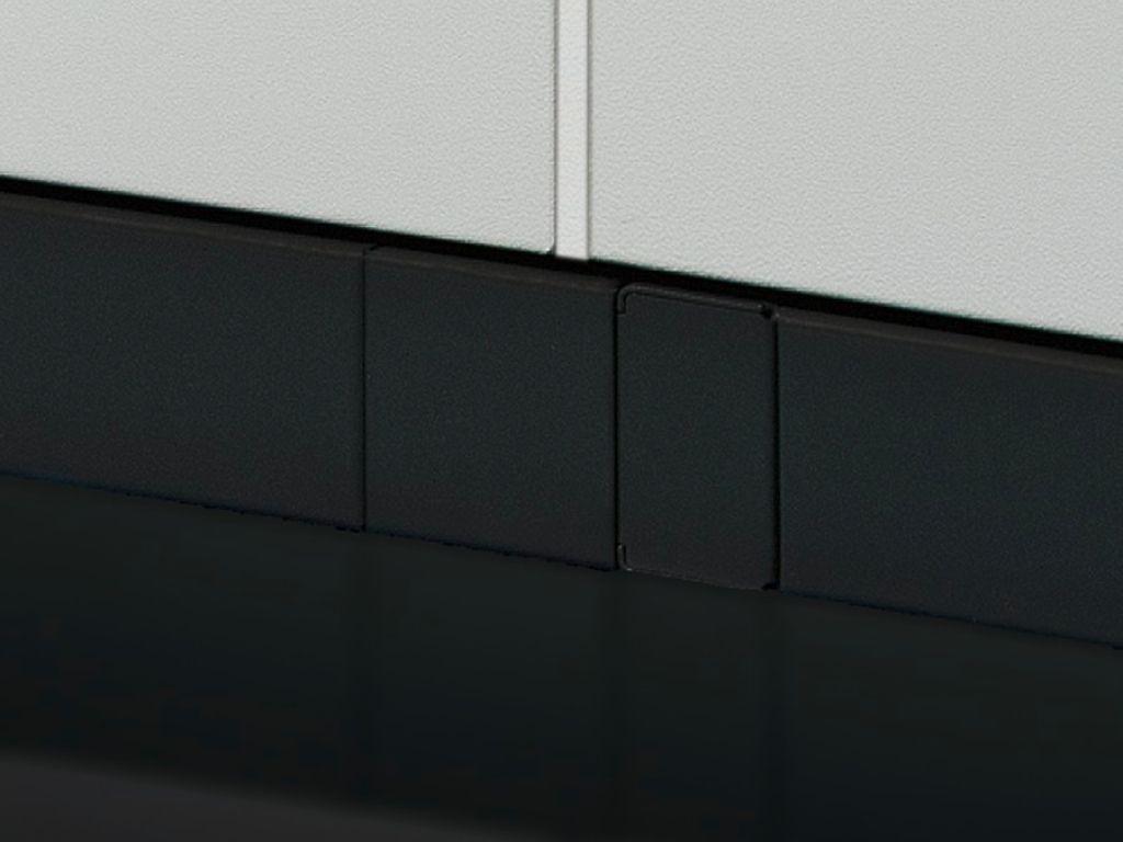 Täckplåt för ihopbyggnad, vertikal