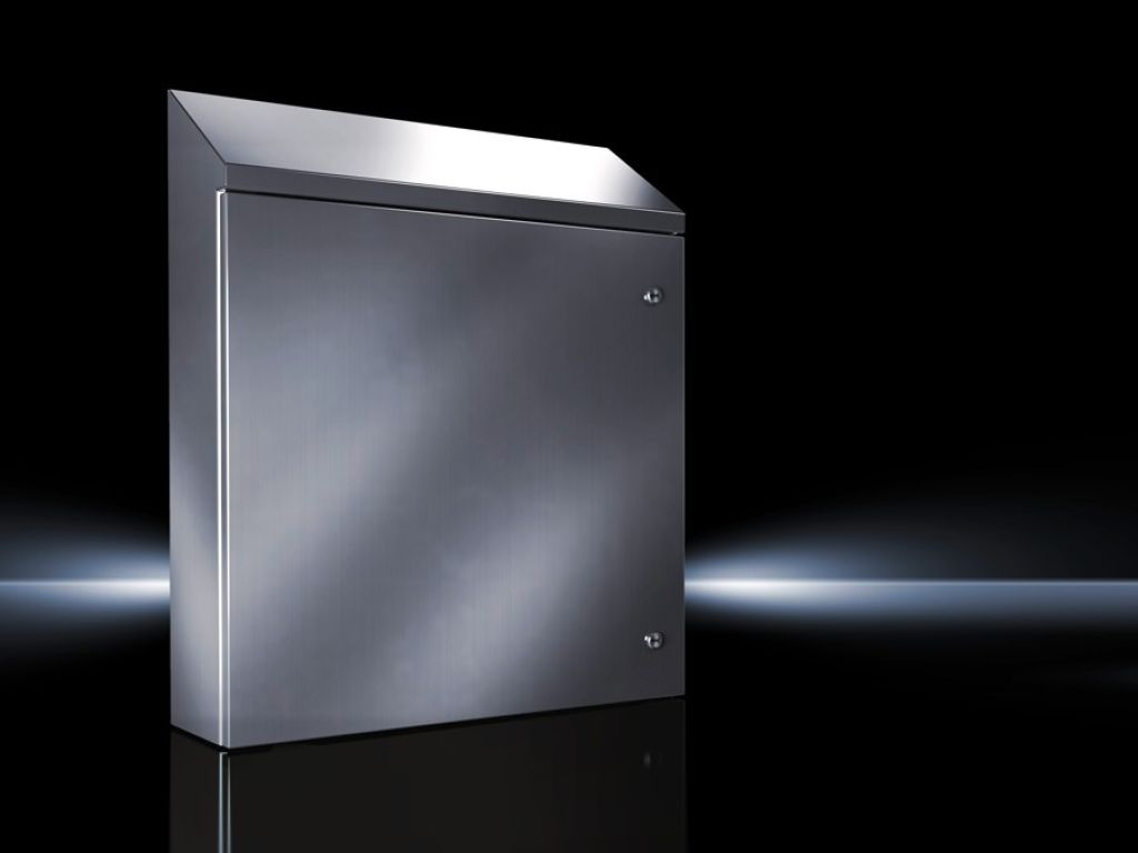 Wallmounted Enclosure Stainless Steel With Roof Slope